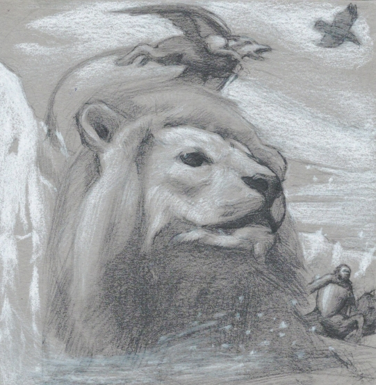 Haywood, Arthur, aslan, 5x5 inches